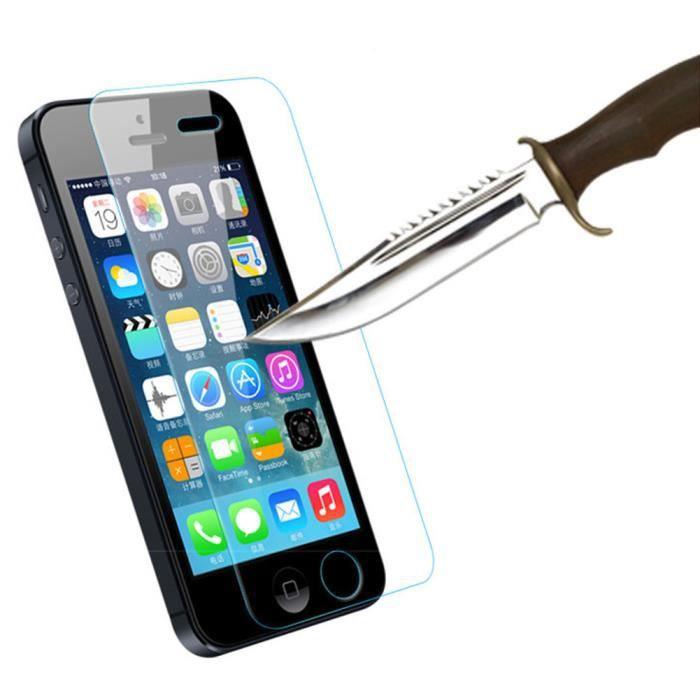 moonar 2pcs verre arm renforc verre t l phone portable film de protection pour iphone 5 5s. Black Bedroom Furniture Sets. Home Design Ideas