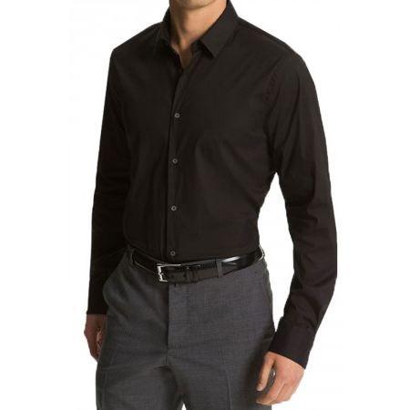 chemise bouton de manchette noir achat vente chemisier. Black Bedroom Furniture Sets. Home Design Ideas