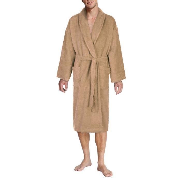 John christian peignoir homme ponge sable 100 coton achat vente peignoir cadeaux de for Peignoir eponge homme