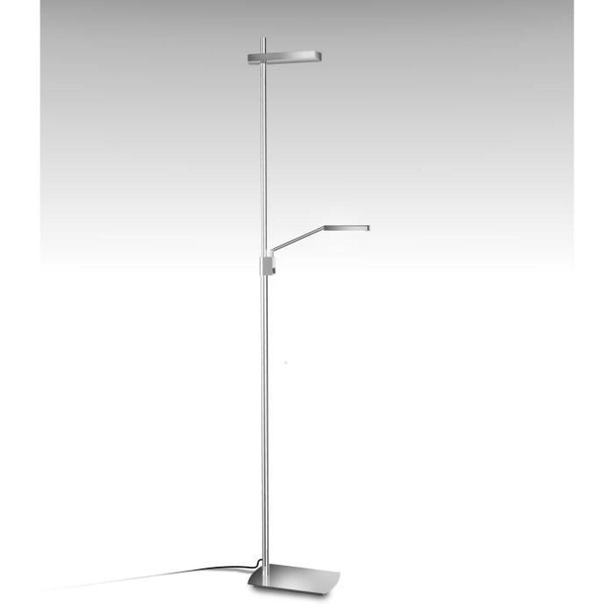 lampadaire design phuket avec liseuse clairage led orientable chrom achat vente lampadaire. Black Bedroom Furniture Sets. Home Design Ideas