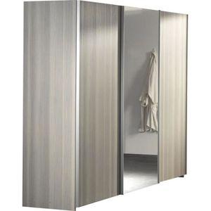 Armoire 3 portes coulissantes achat vente armoire 3 for Armoire chambre portes coulissantes