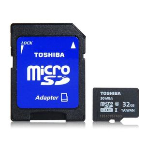 CARTE MÉMOIRE Toshiba haute vitesse de 32 Go CLASS10 TF / carte