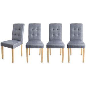 Chaises de salle a manger lot de 4 confortable achat for Chaise de salle a manger confortable