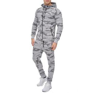 SURVÊTEMENT DE SPORT Ensemble survêtement jogging camouflage gris