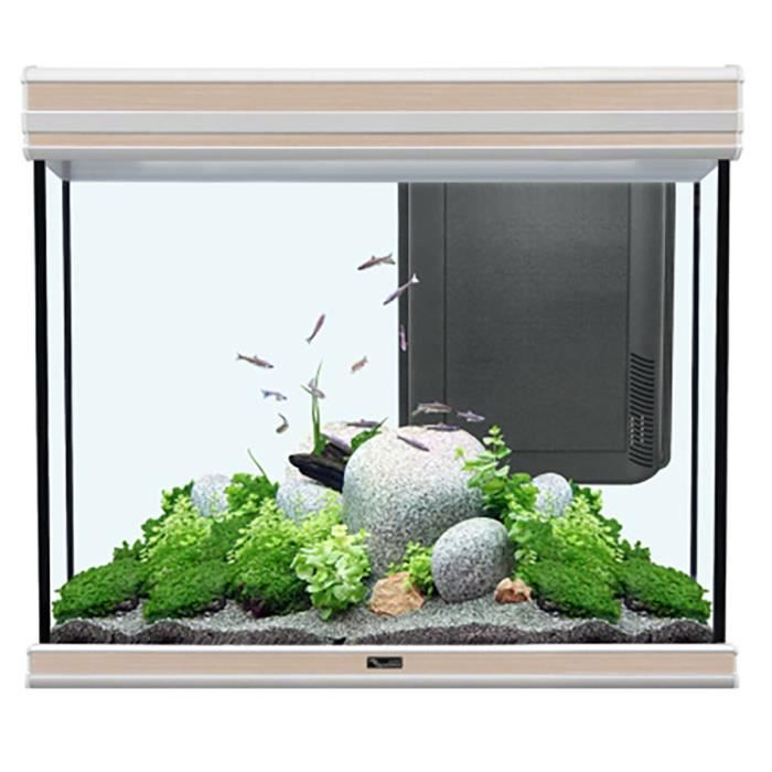 aquarium aquatlantis fusion 70x50 led noyer clair 228 litres achat vente aquarium aquarium. Black Bedroom Furniture Sets. Home Design Ideas