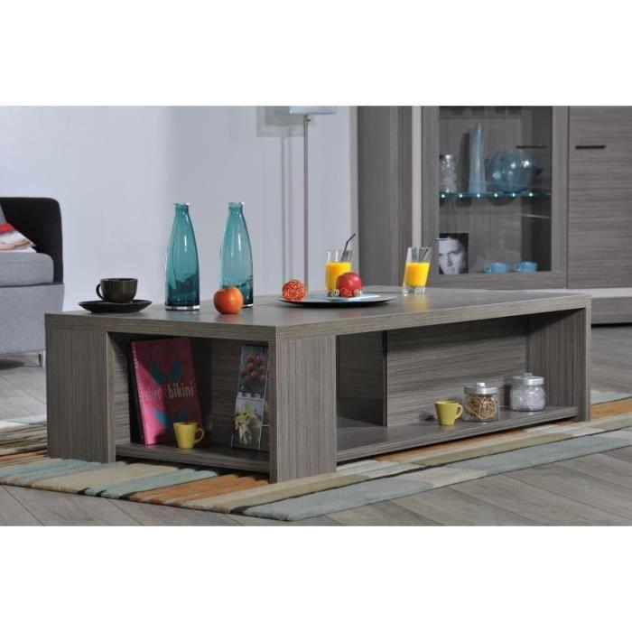Table Basse Coloris Bois Gris Lina Rectangulaire Achat