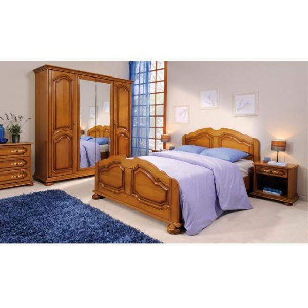 Chambre complette rustique achat vente lit complet for Chambre rustique