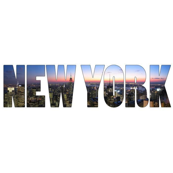 Sticker mural new york dimensions 160x42cm achat vente stickers cdiscount - Image new york a imprimer ...