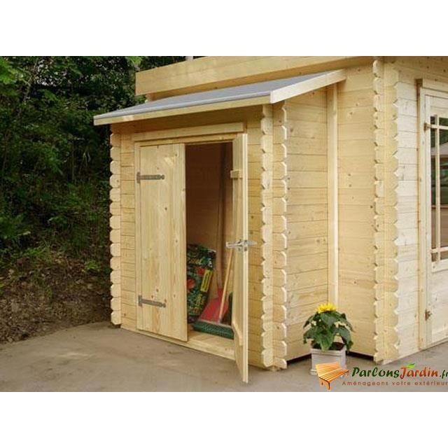 Remise adossée pour abri de jardin en bois L178cm - Achat ...