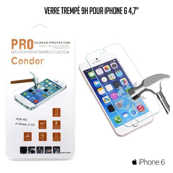 film vitre de protection en verre tremp iphone 6 achat. Black Bedroom Furniture Sets. Home Design Ideas
