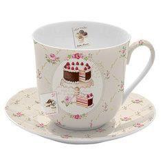 Coffret petit d jeuner sweet achat vente bol mug for Set petit dejeuner porcelaine
