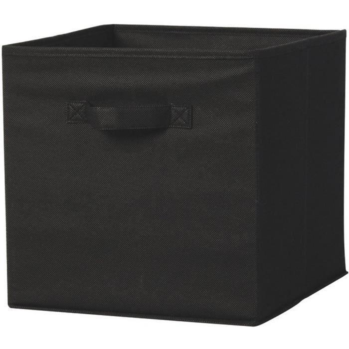 cube de rangement noir 31 x 31 x 31 cm achat vente boite de rangement soldes cdiscount. Black Bedroom Furniture Sets. Home Design Ideas