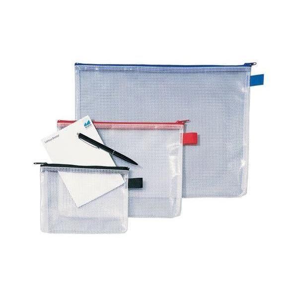 Sac fermeture clair mesh bags a5 pvc bleu achat for Fermeture pvc