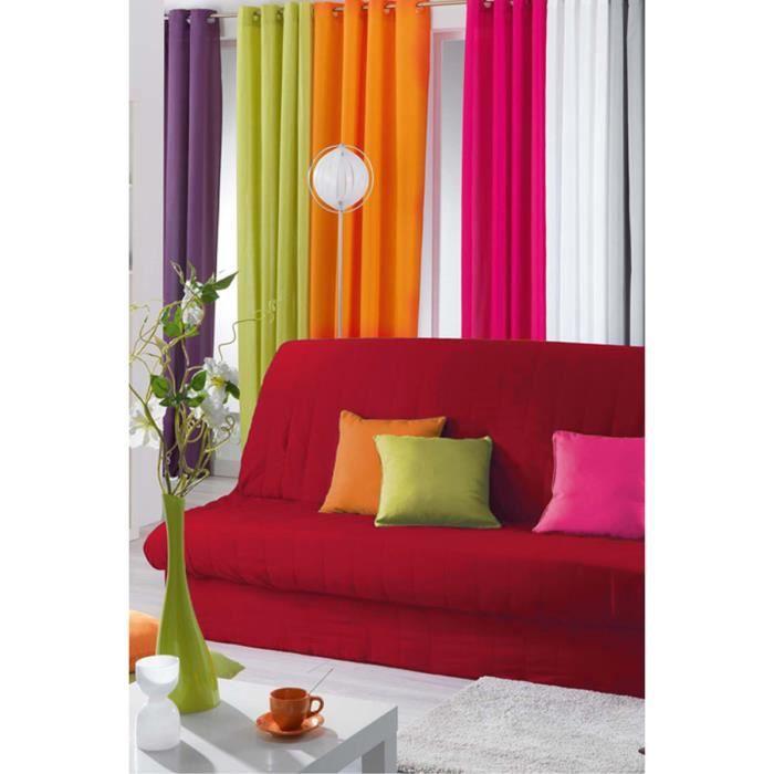 housse de clic clac rouge rouge achat vente housse de canape cdiscount. Black Bedroom Furniture Sets. Home Design Ideas