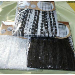 Rideaux fils noirs et blancs achat vente rideaux fils - Rideau de fil blanc ...