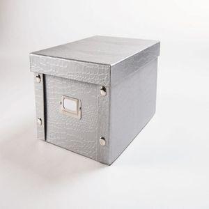 boite de rangement croco achat vente boite de rangement croco pas cher cdiscount. Black Bedroom Furniture Sets. Home Design Ideas