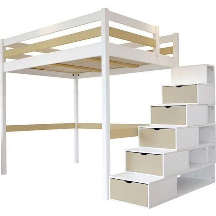 lit mezzanine en bois 2 places lit mezzanine avec bureau lit mezzanine asoral lit mezzanine. Black Bedroom Furniture Sets. Home Design Ideas