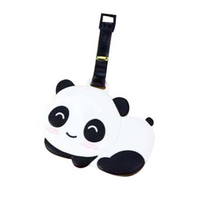 Tiquette de bagage cr ative mod le de panda jolie for 1 porte etiquette de voyage