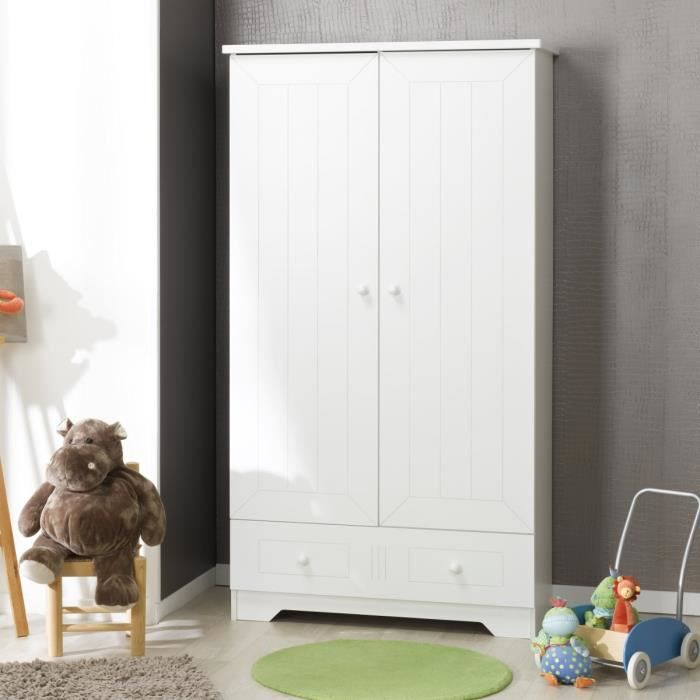 sofamo armoire b b enfant blanc oslo blanc achat vente armoire 3700429521564 cdiscount. Black Bedroom Furniture Sets. Home Design Ideas