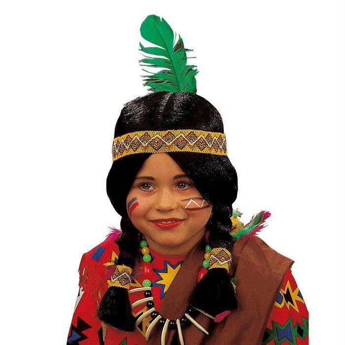 perruque indienne enfant achat vente chapeau perruque soldes cdiscount. Black Bedroom Furniture Sets. Home Design Ideas