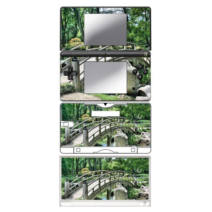 Skin stickers pour nintendo ds lite sticker pont jardin for Accessoire jardin japonais