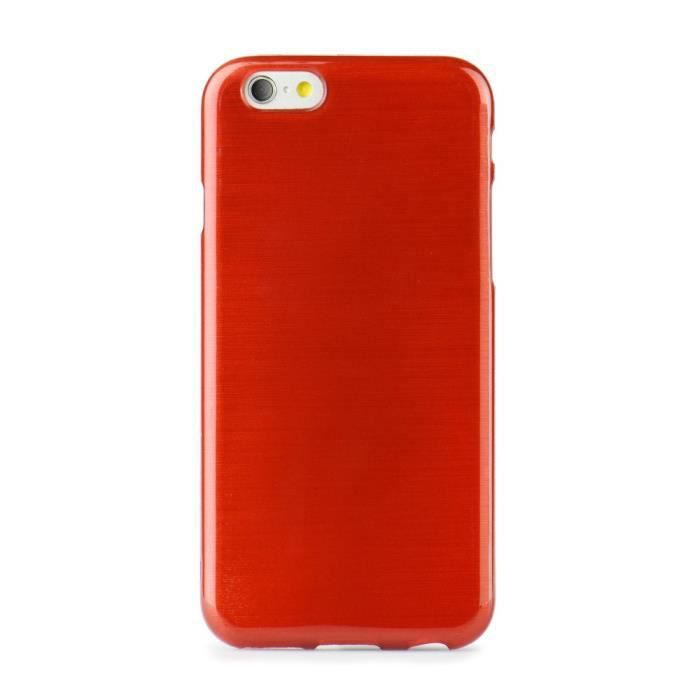 Jelly coque brush apple iphone 5 5s 5se rouge achat for Housse iphone 5se