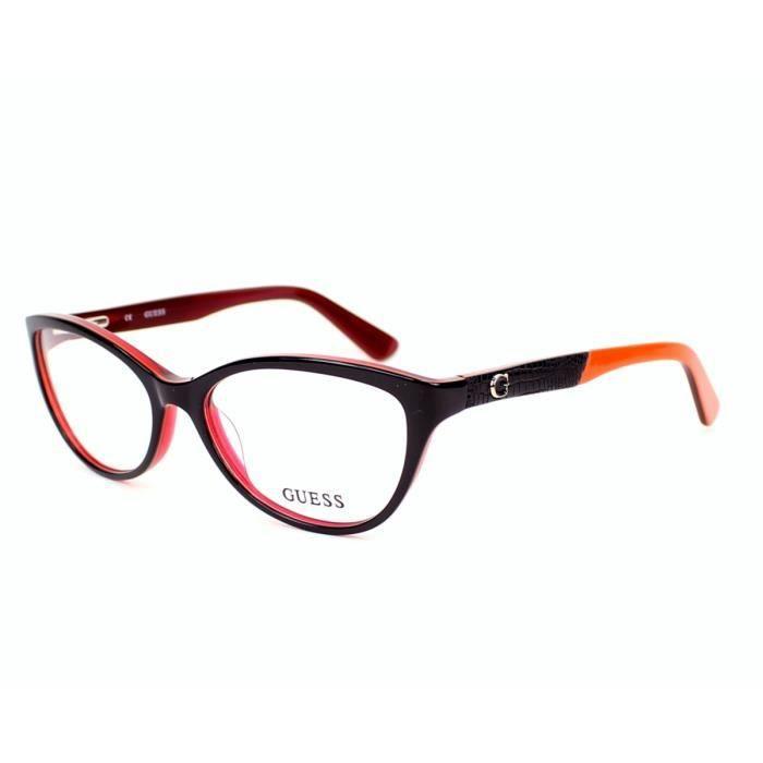 lunettes de vue guess gu2509 48 noir rouge noir rouge. Black Bedroom Furniture Sets. Home Design Ideas