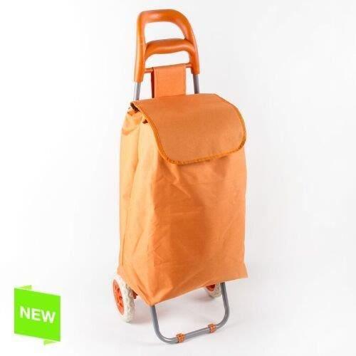 Chariot de courses avec 2 roues 50 l orange achat for Chariot de jardin 2 roues