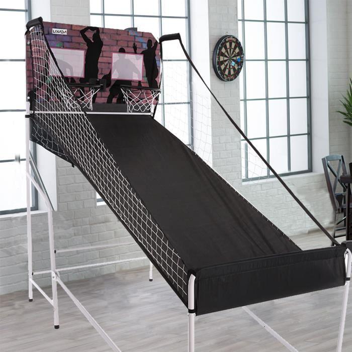 lixada basket ball lectronique double shootout syst me de jeu set comp tition domicile. Black Bedroom Furniture Sets. Home Design Ideas