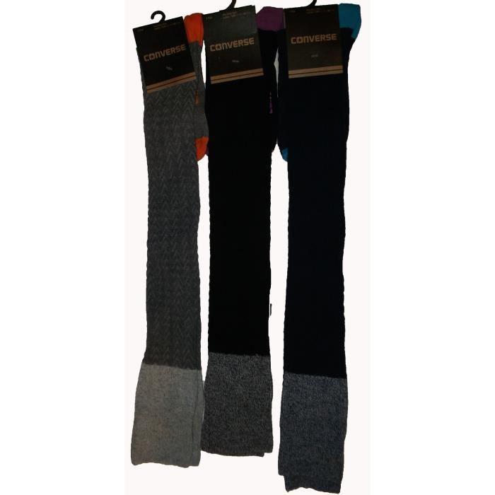 3 paires de chaussettes haute femme noir achat vente chaussette gu tre 3 paires de. Black Bedroom Furniture Sets. Home Design Ideas
