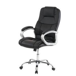 CHAISE Chaise de bureau Pivotante similicuir noir 5 roule