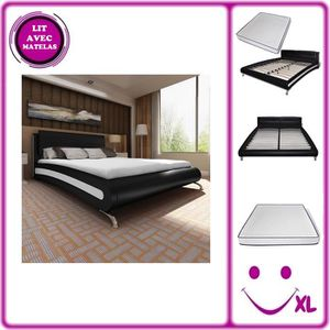 lit simili cuir achat vente lit simili cuir pas cher cdiscount. Black Bedroom Furniture Sets. Home Design Ideas