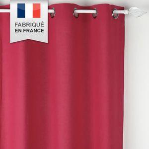 Double rideaux couleur rose achat vente double rideaux couleur rose pas cher soldes for Double rideau rose