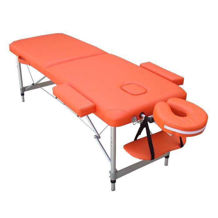 n6o table de massage orange pliante portable alu achat vente table de massage n6o table de. Black Bedroom Furniture Sets. Home Design Ideas
