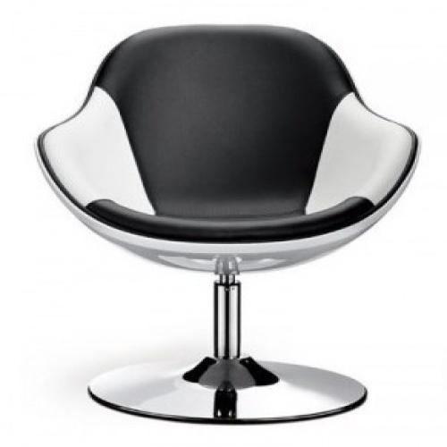 Fauteuil design bicolors noir et blanc kario achat vente fauteuil pvc - Fauteuil design noir et blanc ...