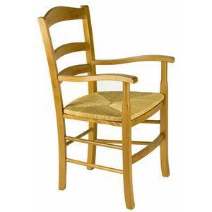 fauteuil bois h tre 100 massif assise paille achat vente fauteuil marron cadeaux de. Black Bedroom Furniture Sets. Home Design Ideas