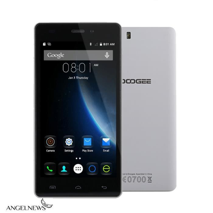 doogee x5 dual sim dual standby smartphone noir achat. Black Bedroom Furniture Sets. Home Design Ideas