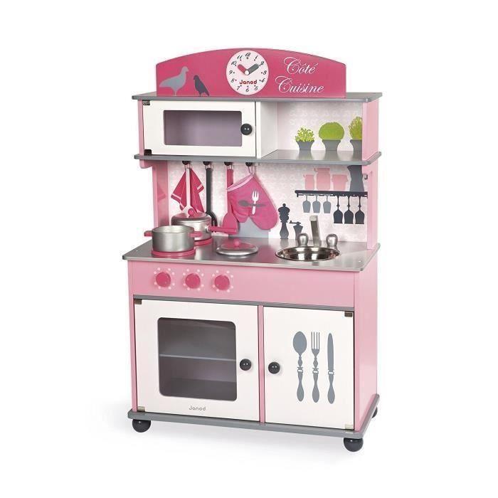 C t cuisine enfant 2 en 1 janod accessoires achat vente dinette cuisine soldes for Cuisine bois jouet
