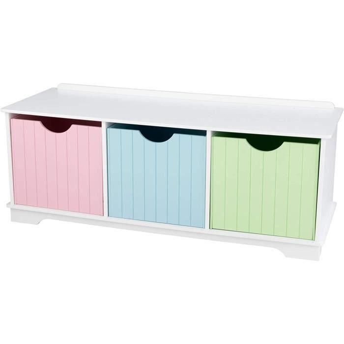 coffre de rangement pastel 3 tiroirs achat vente coffre jouets cdiscount. Black Bedroom Furniture Sets. Home Design Ideas