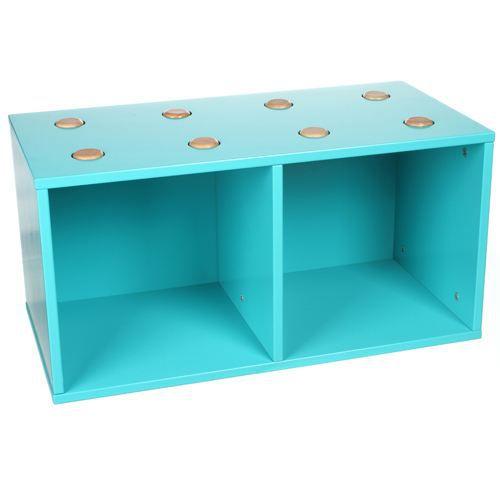 cubes de rangement empilables bois bleu achat vente petit meuble rangement cubes de. Black Bedroom Furniture Sets. Home Design Ideas