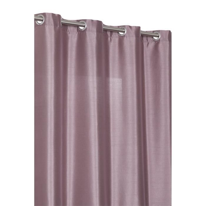 rideau bicolore 140x240 cm 8 oeillets violet achat vente rideau polyester cdiscount. Black Bedroom Furniture Sets. Home Design Ideas