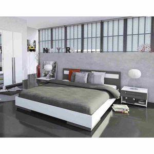 Lit 160x200 avec chevet achat vente lit 160x200 avec chevet pas cher le - Ensemble de lit adulte ...