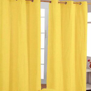 double rideaux jaunes achat vente double rideaux jaunes pas cher les soldes sur cdiscount. Black Bedroom Furniture Sets. Home Design Ideas