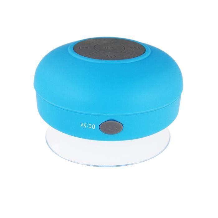 Bleu nouveau design haut parleur bluetooth tanche for Haut parleur etanche pour piscine