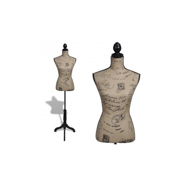 buste de couture de femme brun et noir achat vente mannequin buste buste de couture de. Black Bedroom Furniture Sets. Home Design Ideas