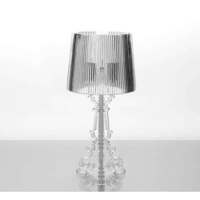 Lampe poser design noir ou transparent glory for Lampe a poser transparente