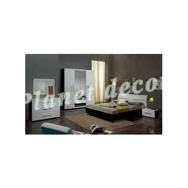 Chambre coucher model gloria armoire 4 portes achat vente chambre compl - Chambre a coucher cdiscount ...