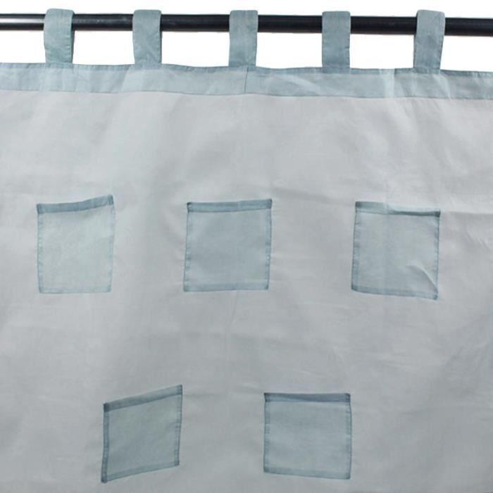 pocket voilage pattes 110x250cm bleu ciel achat vente rideau cdiscount. Black Bedroom Furniture Sets. Home Design Ideas
