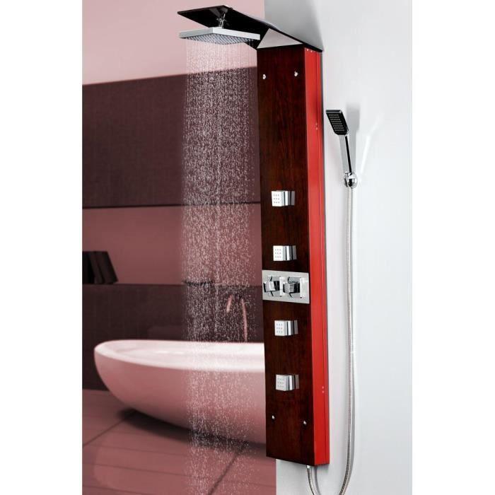 colonne de douche hydromassante en verre imprim achat. Black Bedroom Furniture Sets. Home Design Ideas
