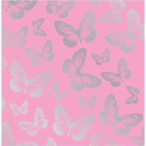 Fun4walls papier peint papillons rose argent achat for Image murale a tapisser